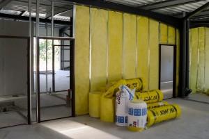 Isolation d'un mur de plaque de plâtre